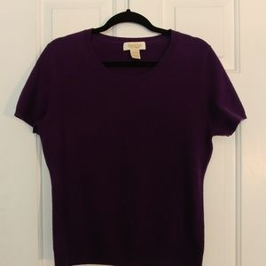 Peck & Peck 100% Cashmere Purple Sweater Large